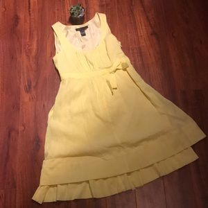 Marc Jacobs yellow dress with lining and bow sz 6