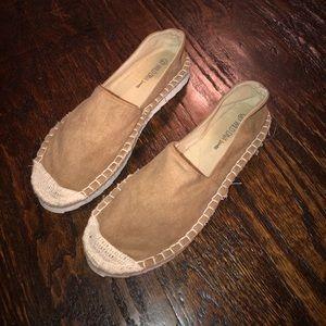 Platform suede shoes