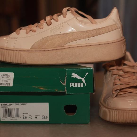 7971d6cd432a Puma Basket Platform Patent Marshmallow Sneaker. M 5a0b8b394127d07d60013e3f