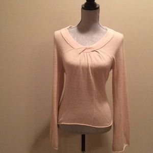 Anthropologie Sparrow Soft Pink Wool Sweater Sz L