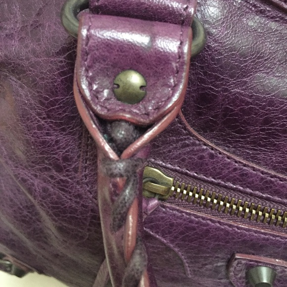 Balenciaga Bags - Balenciaga City Bag 2009 Raisin Purple
