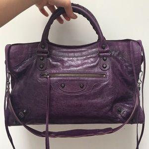 Balenciaga Bags - Balenciaga Violet City Bag
