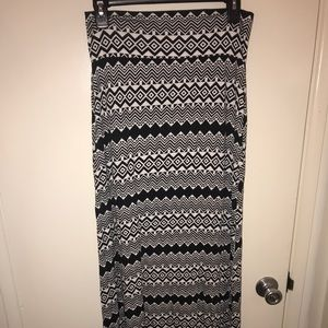 Charlotte Russe maxi skirt with side slits