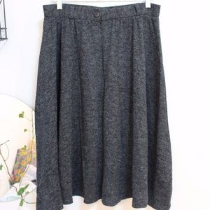 River Island A Line Midi Knit Sweater Skirt Gray