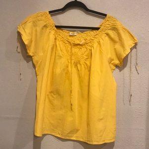 Tops - Yellow Boho style shirt size Large