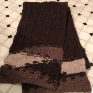 Accessories - Cable knit Chestnut 🌰 brown warm soft scarf