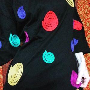 Vintage Rainbow String Fibonacci Swirl Tunic