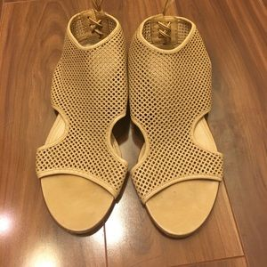 J. Crew Tan Leather Caged Lace up Flat Sandals 7