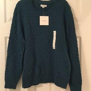 Blue green sweater
