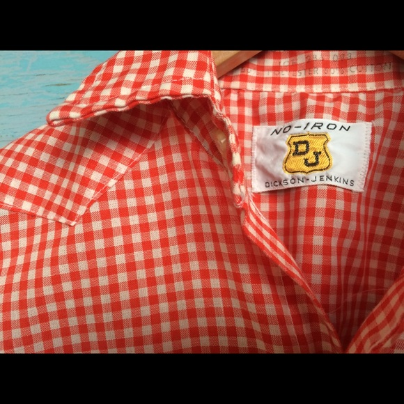 vintage Shirts & Tops - Vintage 70's western pearl snap kids small plaid