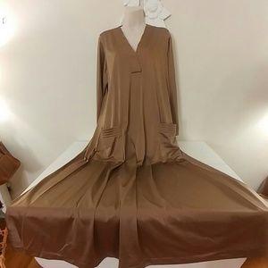 Vintage Intimates & Sleepwear - Vintage 70s Vanity Fair caftan house dress