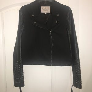 Rachel Roy black studded jacket