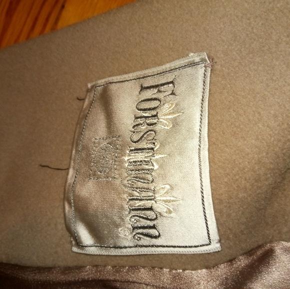Vintage Jackets & Coats - Long Tan Wool & Fur Coat