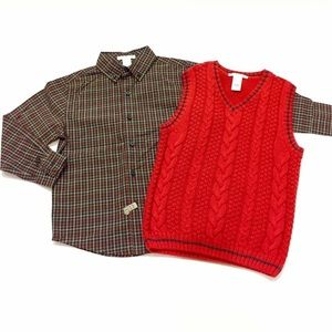 Boys Janie and Jack Shirt and Vest