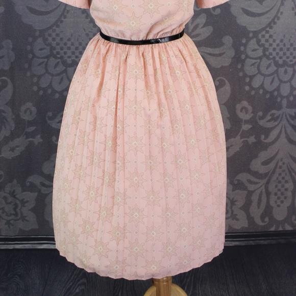 Vintage Dresses - SOLD VINTAGE PULL OVER SWING DRESS