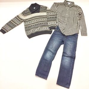 Boys Sweater and Jeans Outfit