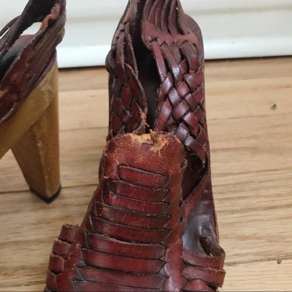 Vintage Shoes - Authentic 1970's Huarache Platform Sandals