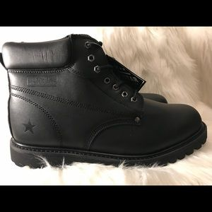 Other - Brand New Genuine Leather Black Boot size 15W