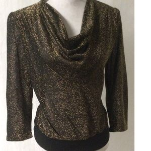 Black & Gold Vintage Top Small