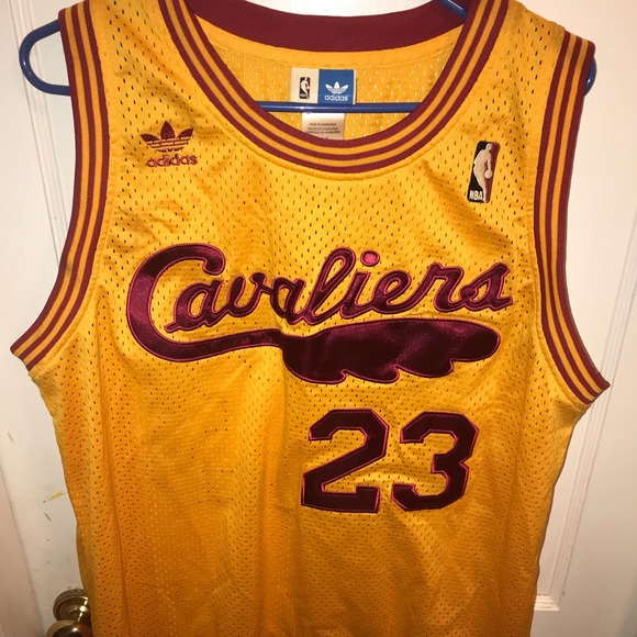online store 4a413 343bd Lebron James cavaliers hardwood classics large