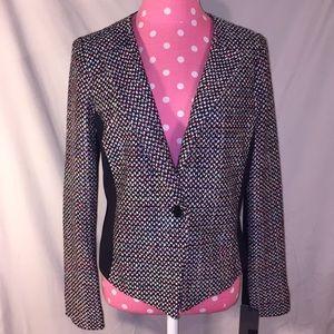 NWT Mossimo Sz M woven blk/multicolor blazer