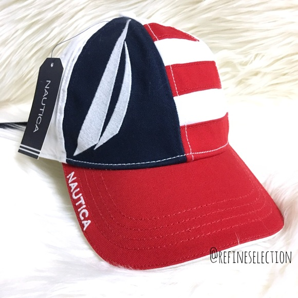 Nautica Flag And Logo Strapback Hat 93d735a1f8d1