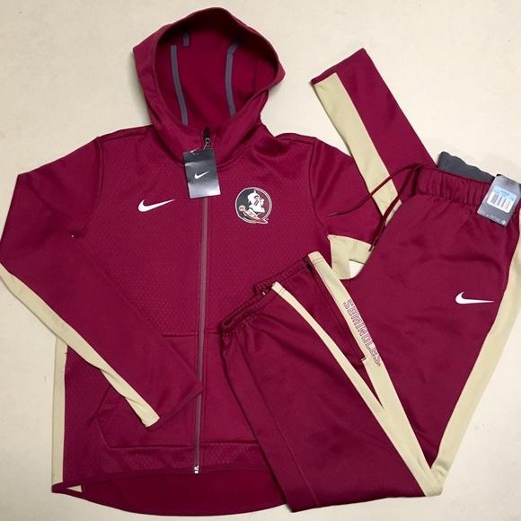 5aeae88328 Nike Tops | Florida State New Zipup Hoodie Jogger Set | Poshmark