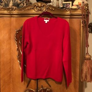 Beautiful Deep Red Cashmere Sweater