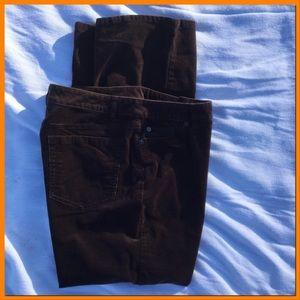 Dark Brown Corduroy Jeans