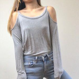 Ella Moss Long Sleeve Cold Shoulder Top