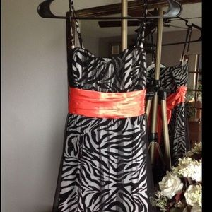 Speechless Formal Dress Zebra Black Chiffon