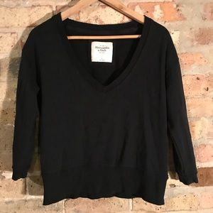 Abercrombie Black vneck sweatshirt