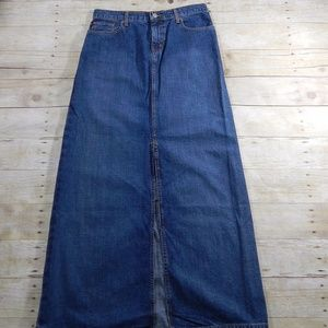 Ralph Lauren Long Denim Skirt Size 4