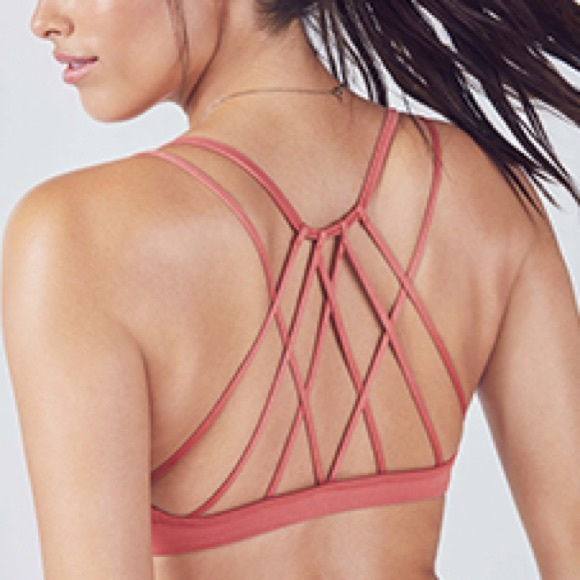 e39bb5d3d61 Fabletics Other - Fabletics Dash Rose Pink Strappy Caged Back bra