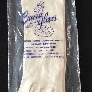 VTG Ivory Italian BARRA Gloves Sz 7 Original Pkg