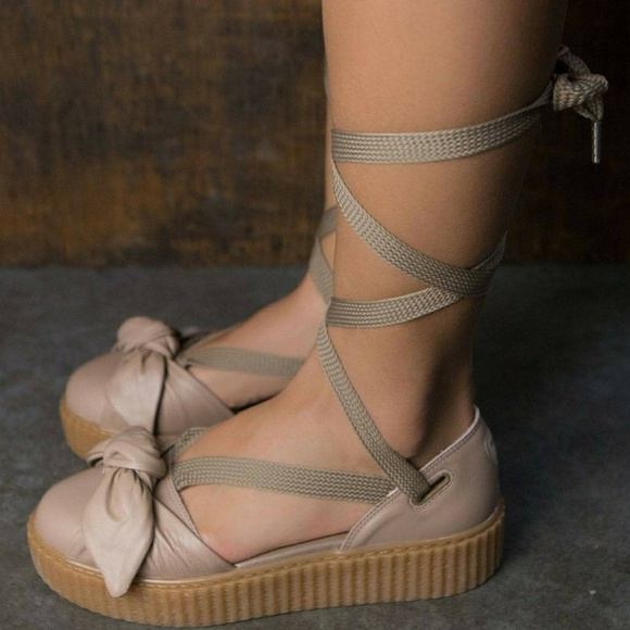 half off bb331 54bb3 Fenty PUMA by Rihanna Bow Creeper Sandal NWT