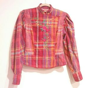 Kenzo Women Jacket Vintage Size M Embroidered