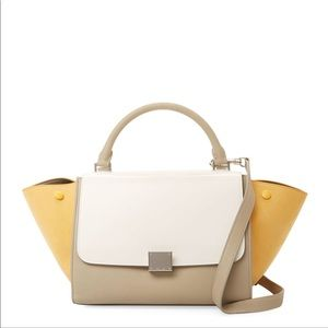 Celine Trapeze small leather totes