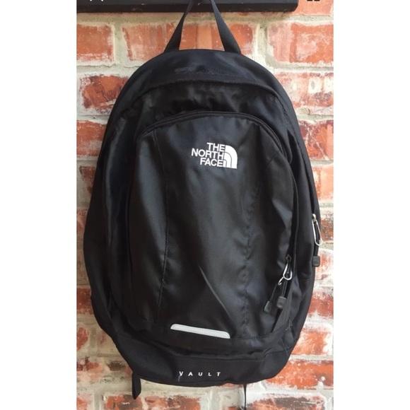 85540662c3da North Face Vault Black Backpack Hard Back Book Bag.  M_5a0b9fe6a88e7d325b01aa68