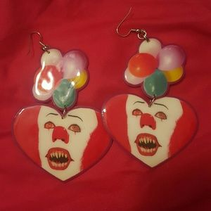 Pennywise earrings.  Steven King It horror