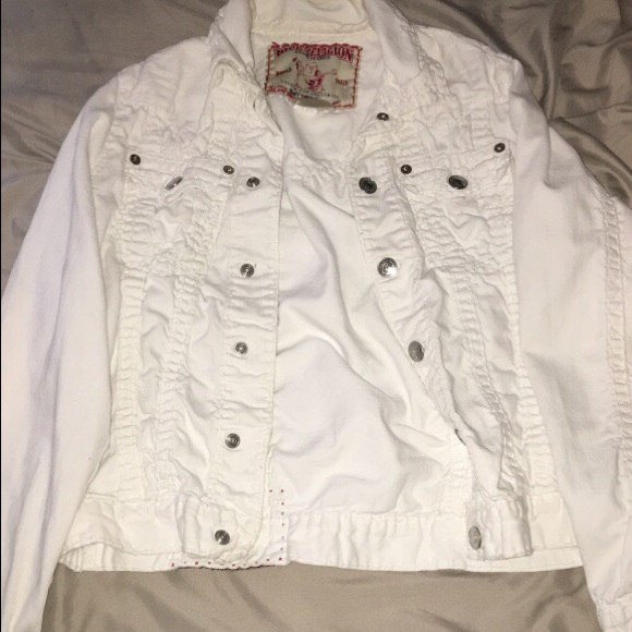 sale usa online cheaper large discount True Religion Jackets & Coats | All White Jean Jacket | Poshmark