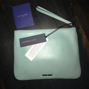 """Rebecca Minkoff Leather """"Kerry"""" Pouch Wristlet"""