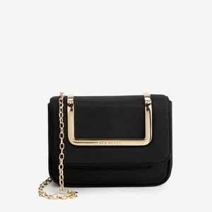 Ted Baker Blsck Grosgrain Mini Clutch Bag