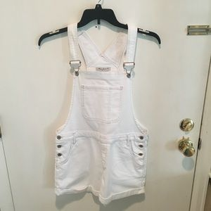 Mavi Jeans White Jean Short Overalls