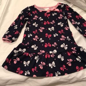 Navy blue bow dress with pink details worn once