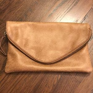 Jcrew Leather clutch / cross body