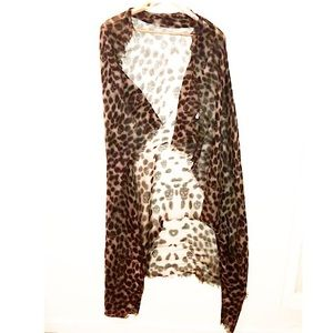 Authentic McQueen Cashmere & Silk Skull Wrap/Scarf