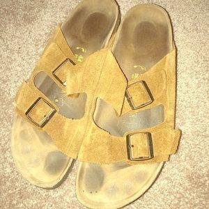 Light Brown Soft Leather Birkenstock Sandals