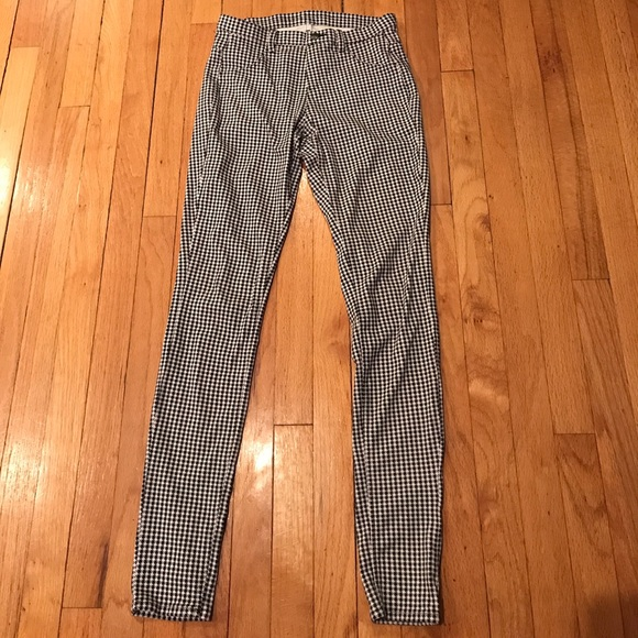 authentic enjoy best price hot-selling real Uniqlo jeggings houndstooth skinny jeans S