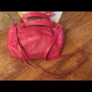 Pink hobo bag